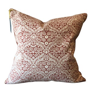 Roberta Roller Rabbit Periyar Red Pillow Cover For Sale