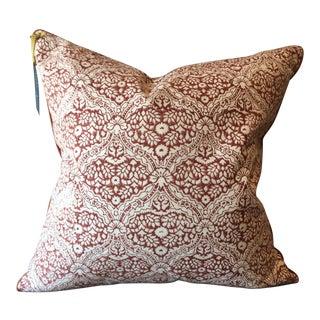 Roberta Roller Rabbit Periyar Red Pillow Cover