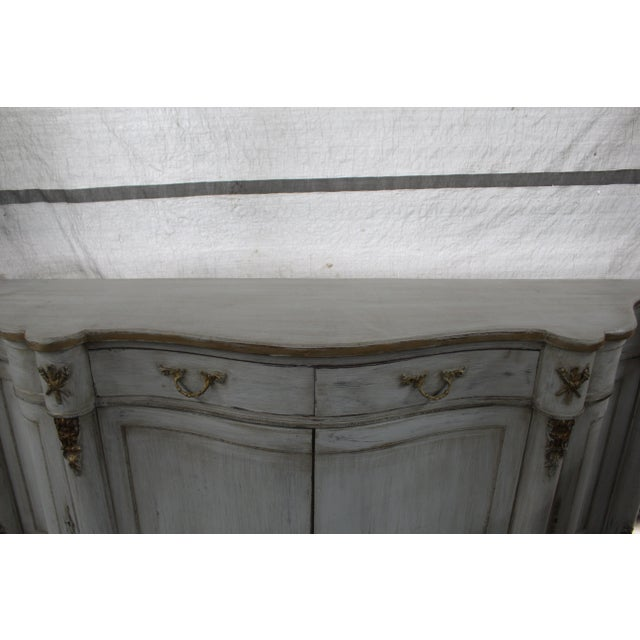 Gold 20th Century French Curved Sideboard For Sale - Image 7 of 8