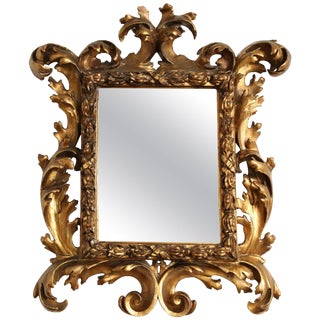 18th Century Italian Baroque Mirror For Sale