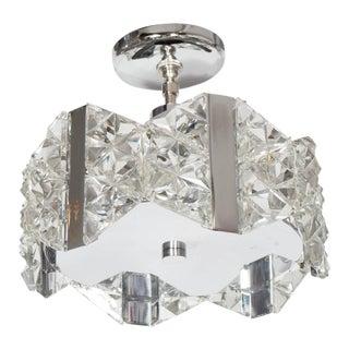 Stunning Mid-Century Deep Faceted Crystal Prism Chandelier by Kinkeldey For Sale