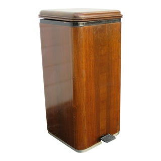 Mid Century Deco 1950s Doctors Waste Bin Trash Can by Hamilton For Sale