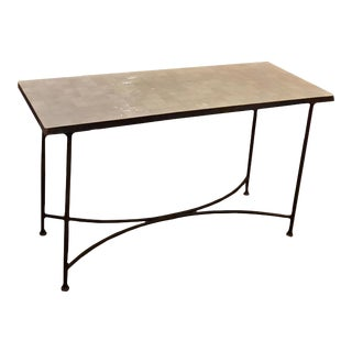 Moroccan Rectangular Mosaic Console Table For Sale