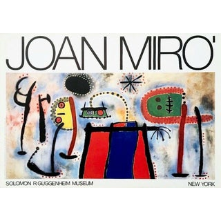 (after) Joan Miró Guggenheim Museum, 1966 Exhibition Poster 1966 For Sale