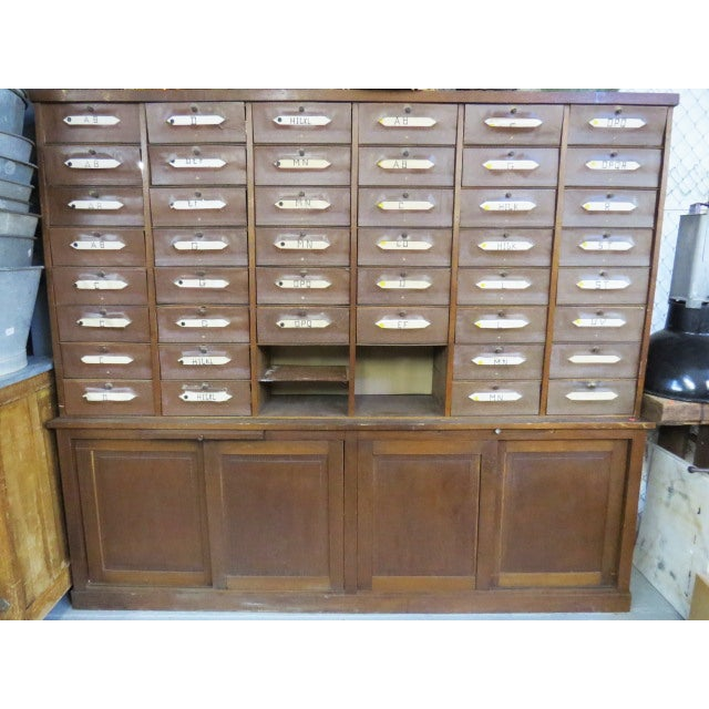 Antique French Notary Cabinet For Sale In New York - Image 6 of 6