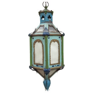 Antique Boho Chic Hanging Lantern For Sale