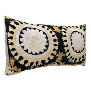 Vintage Suzani Lumbar Pillow For Sale