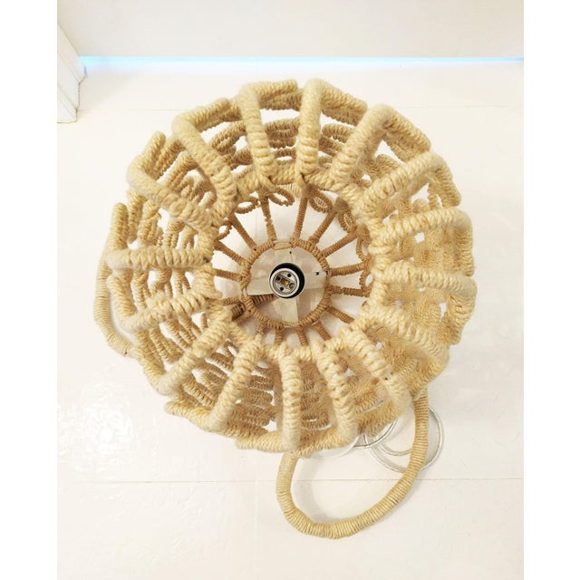 Boho-Chic Jute Pendant Light - Image 5 of 6