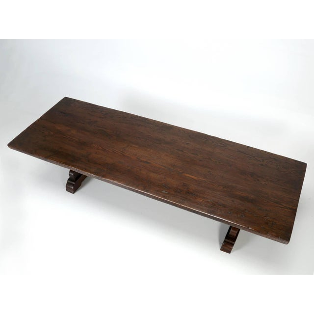 Antique French Oak Trestle Dining Table, Seats 12 For Sale - Image 12 of 13