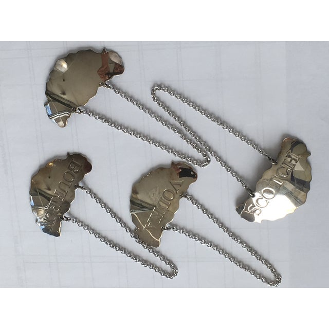 Group of Four Silverplate Liquor Bottle Tags - Steiff For Sale - Image 9 of 10