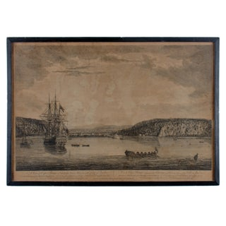 A View of Cape Rouge, Quebec, Canada, Mazell After Capt. Hervey Smyth, C.1760s For Sale