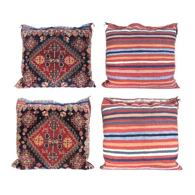 Traditional Pair of Qashqai Bagface Pillows For Sale - Image 3 of 7