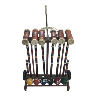 Vintage Rolling Croquet Set