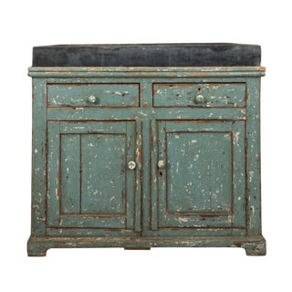 19th Century French Country Stone Top Garden Potting Table For Sale