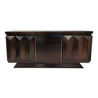 Vintage Modern Brutalist Style Credenza Dresser For Sale