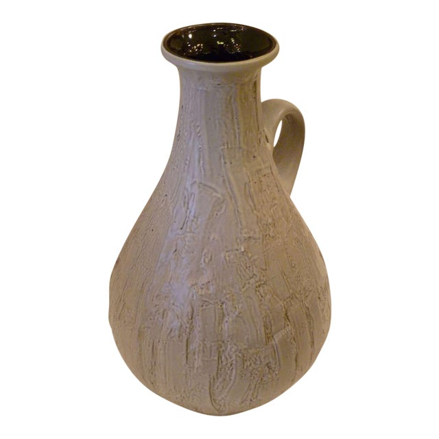 Large 50s Clemens & Huhn Textured German Pottery Mid Century Modern Krug Floor Vase - Image 1 of 9