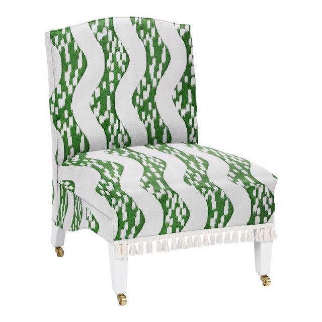 Turkish for wave, Dalga is inspired by movement – water, air, energy – and translated into an ikat design. Hand-printed in...