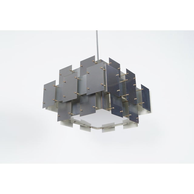 "Vintage ""Cityscape"" Chandelier by Robert Sonneman - Image 3 of 7"