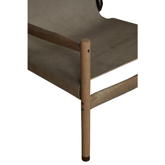 Mid-Century Modern Custom Erickson Aesthetics Oak Lounge For Sale - Image 3 of 3
