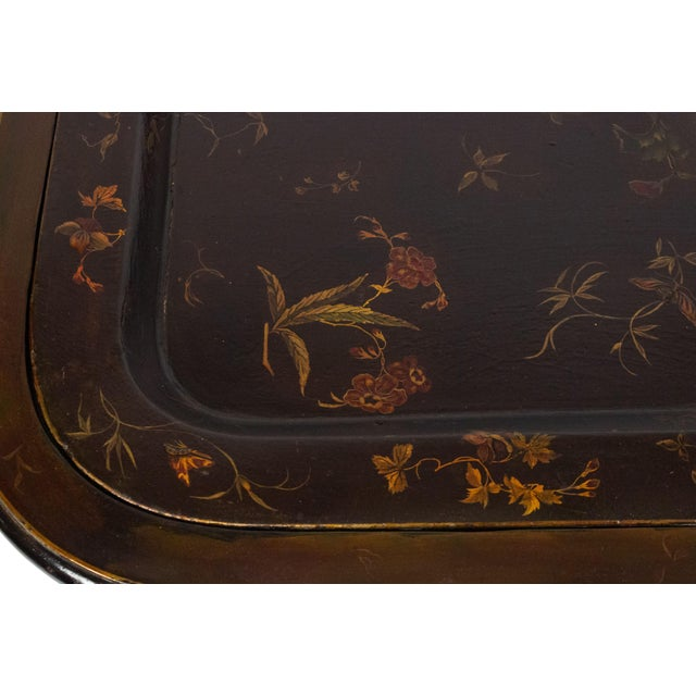 English Regency Brown Lacquered Coffee Table For Sale - Image 4 of 10