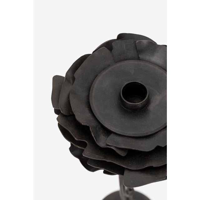 Pair of Albert Paley Blossom Candle Holders - Image 5 of 8
