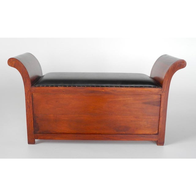 2010s Handmade in India Brass Inlaid Settee With Storage For Sale - Image 5 of 6