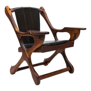 Mid 20th Century Rosewood Swinger Lounge Chair by Don Shoemaker For Sale