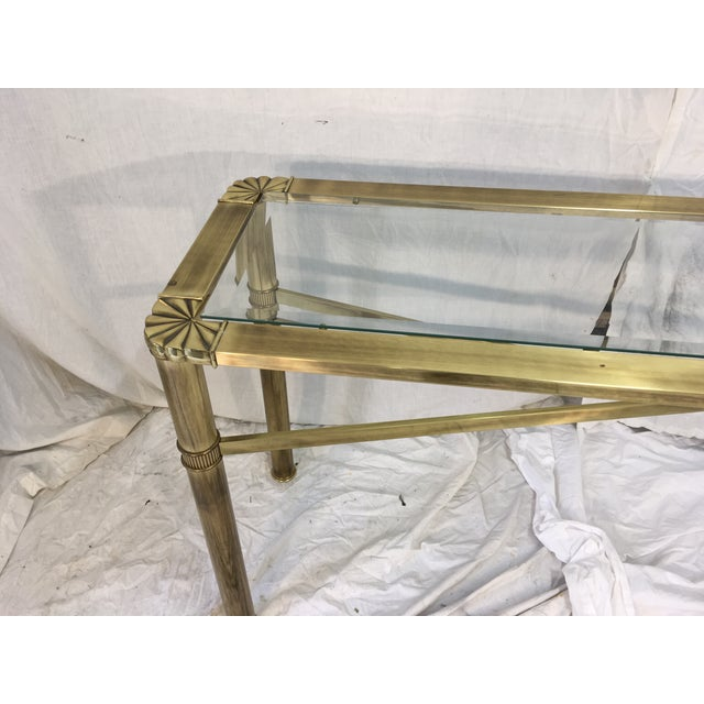 Modernist Brass Console Table - Image 5 of 9