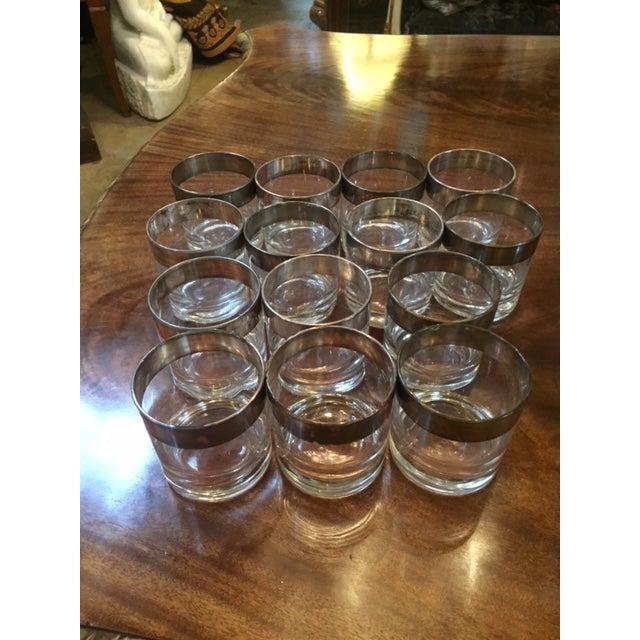 Silver Vintage Dorothy Thorpe Scotch Glasses- Set of 14 For Sale - Image 8 of 8