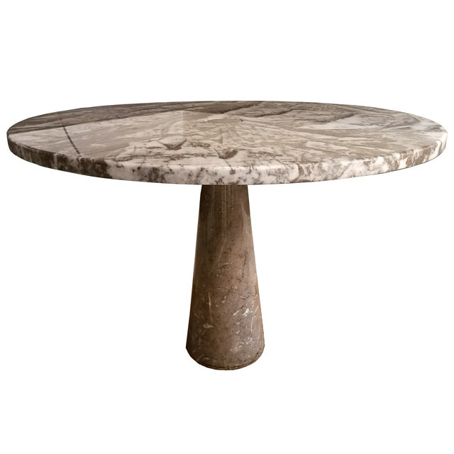 Angelo Mangiarotti Italian Marble Round Dining Table For Sale - Image 4 of 6