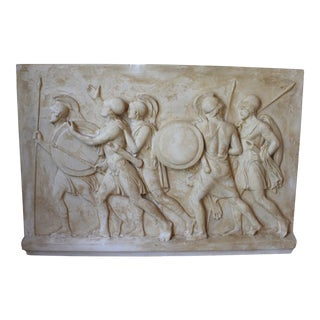 Vintage Plaster Frieze After Thorvaldsen For Sale