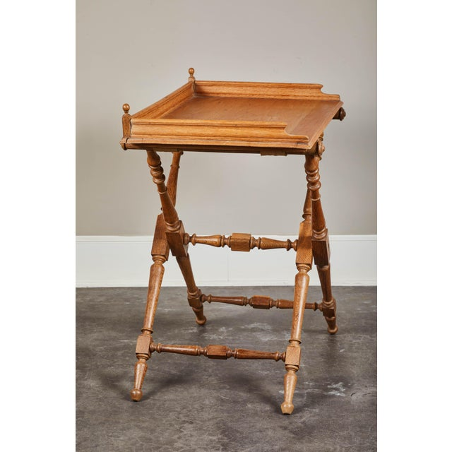Arts & Crafts 19th Century Oak Butler's Tray Table For Sale - Image 3 of 9