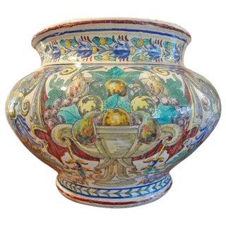 19th Century Italian Majolica Jardiniere For Sale