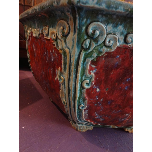 Asian Chinese Hexagon Planters - a Pair For Sale - Image 3 of 6