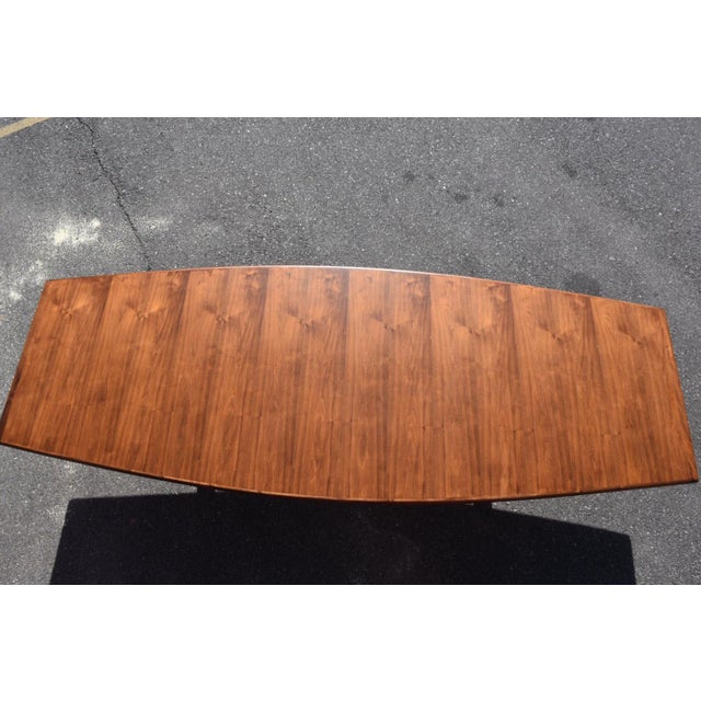 Mid-Century Modern Mid-Century Modern Walnut & Brass Conference Table For Sale - Image 3 of 11
