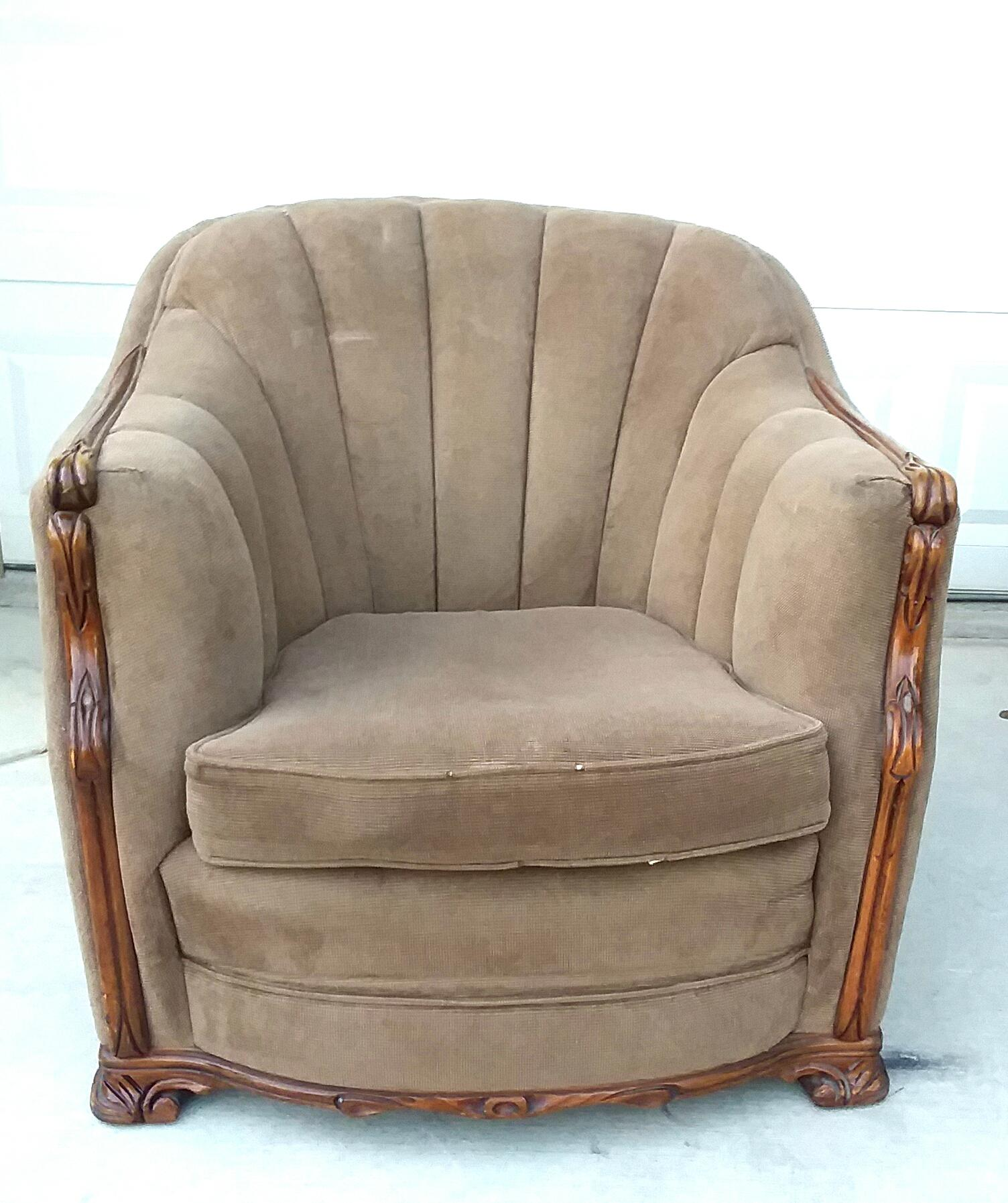 Mahogany U0026 Mohair Art Deco Club Chair For Sale   Image 10 Of 10