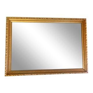 1965 Vintage Gold Framed Mirror For Sale