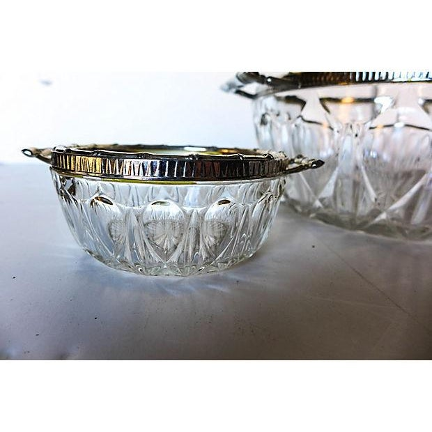 Bamboo Silver-Plate & Pressed Glass Set - Image 4 of 6