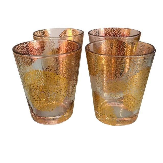 Gold Chrysanthemum Glasses - Set of 4 - Image 1 of 8