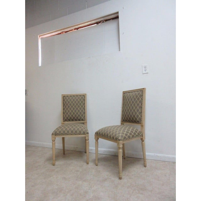 Ethan Allen Ethan Allen Swedish Side Chairs - A Pair For Sale - Image 4 of 11
