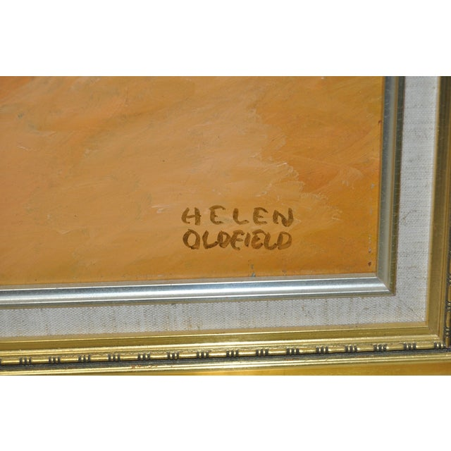 Helen Clark Oldfield 1970 Modern Portrait Painting For Sale - Image 5 of 6