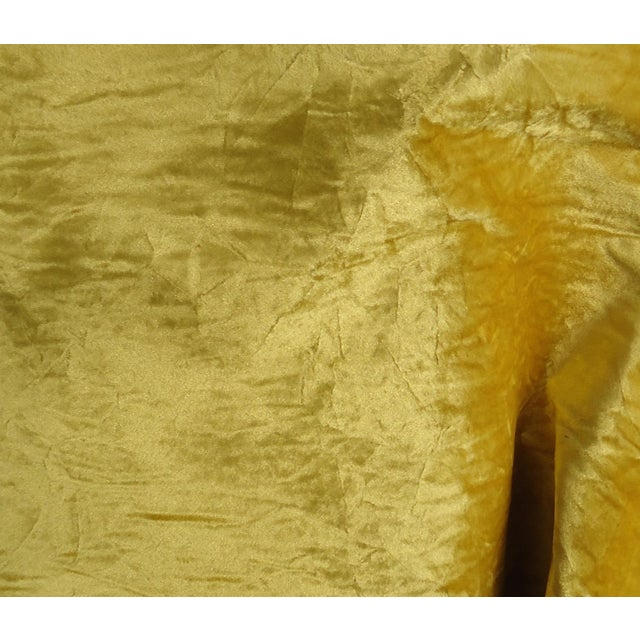 "Deadstock crushed gold velvet upholstery fabric from the 1960s or 70s. Velvet portion is approximately 54"" wide +..."