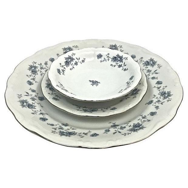 Theodore Haviland Haviland Blue Garland Plates - Set of 9 For Sale - Image 4 of 9