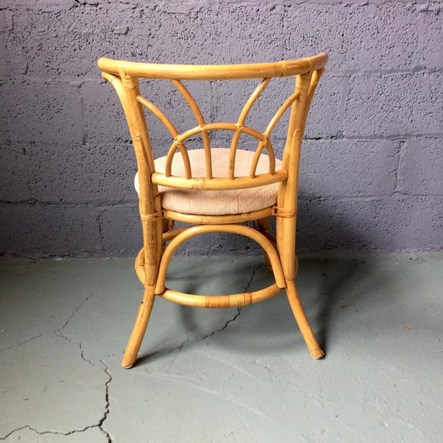 Vintage 1980s Bamboo Dining Set For Sale - Image 10 of 11