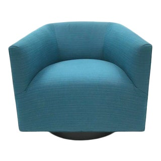 Modern Mitchell Gold Cooper Studio Full Swivel Chair For Sale