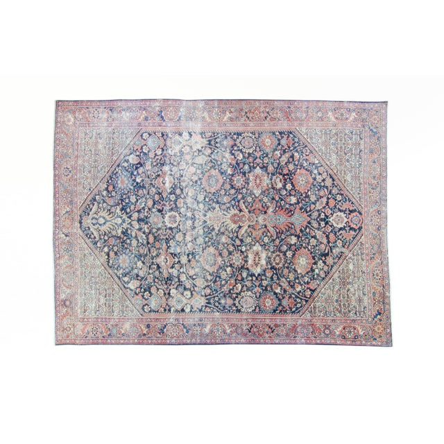 """House of Séance - 1920s Vintage Mahal Geometric Medallion Wool Hand-Knotted Rug - 8'6"""" X 11'7"""" For Sale - Image 11 of 11"""