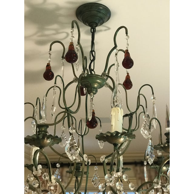 Clive christian victorian style crystal chandelier with amber clive christian victorian style crystal chandelier with amber pears and crystal grapes image 4 of aloadofball Gallery