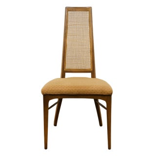 Late 20th Century Lane Furniture Asian Inspired Cane Back Dining Side Chair For Sale