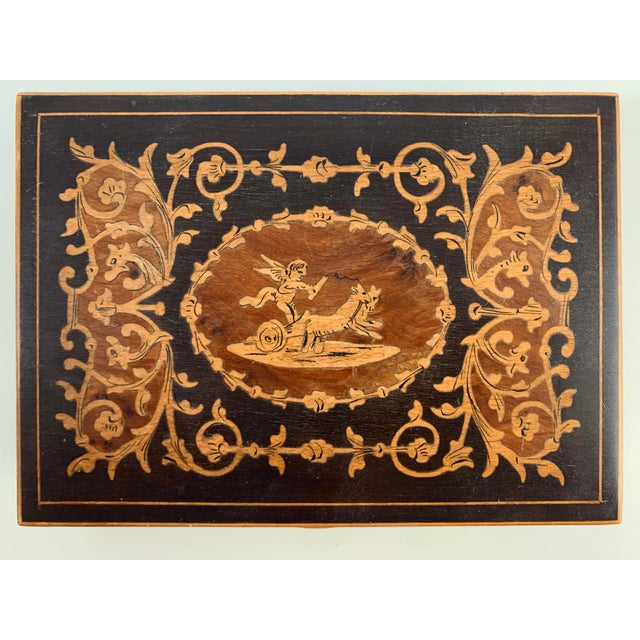 19th Century French Inlay Wooden Box For Sale - Image 13 of 13