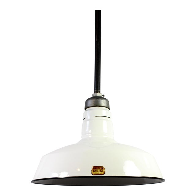 Vintage Light Fixtures Minneapolis: Vintage Wheeler Porcelain Enamel Industrial Pendant Light
